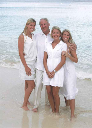 Dr. Roger Baker and his family